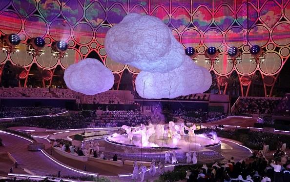 30 сентября 2021 г. Дубай открыл Expo 2020 серией необычных фейерверков. Photo de Karim SAHIB/AFP via Getty Images