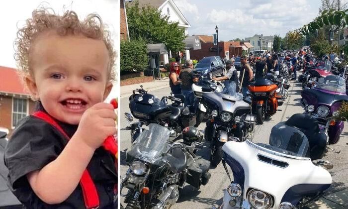 2000 байкеров отдали дань уважения ребёнку, обожавшему мотоциклы