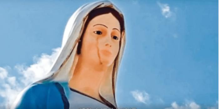 Иконы и статуи святых плачут. Скриншот/youtube.com | Epoch Times Россия