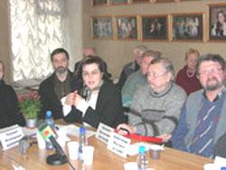 2006 01 20 stol 10 - Круглый стол в Институте  Региональной  Прессы г. Санкт-Петрбурга «Преступления коммунистических тоталитарных режимов.»