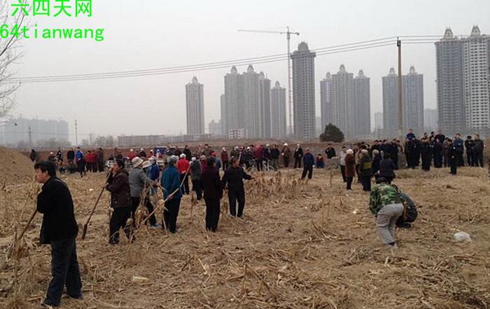 Китайские крестьяне выступают против урбанизации с вилами