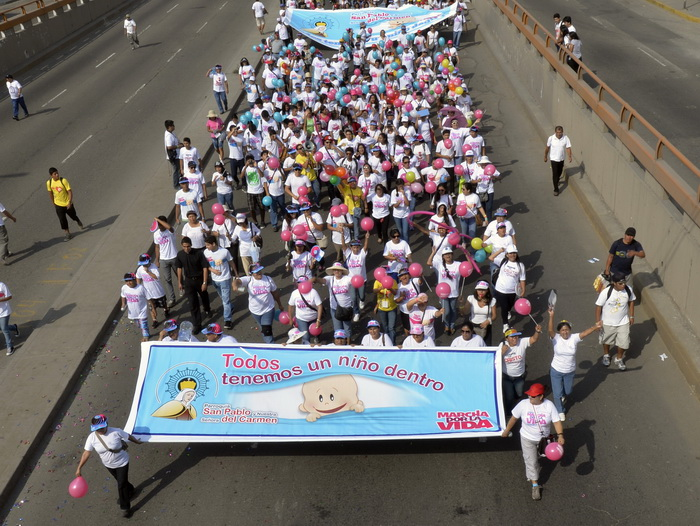 В Перу прошла манифестация против абортов