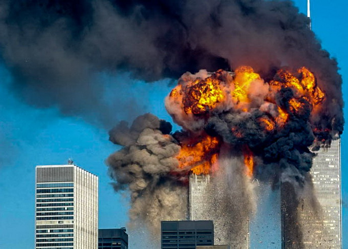Теракт в Нью-Йорке 11 сентября 2001 года. Фото: Spencer Platt/Getty Images
