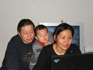 Гао Чжишен со своей  супругой Гэн Хэ и  сыном Гао Тяньюй. Фото: Великая Эпоха