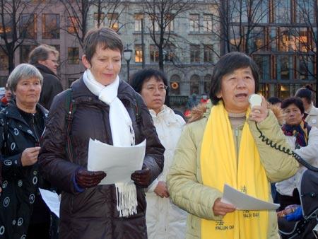 Митинг в Норвегии. Фото: Epoch Times
