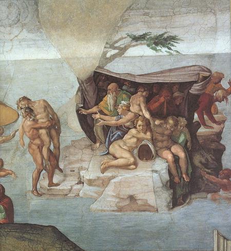 Микеланджело. Фрагмент фрески. Art Renewal Center