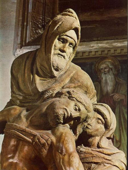 Микеланджело (1475-1564). Pietа. Мрамор 1550г. Флоренция, музей dellOpera del Duomo. Art Renewal Center