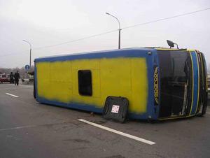 В Херсонской области опрокинулся автобус с 25 пассажирами. Фото: sai.gov.ua.