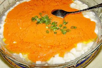 Соевый творог с крабовым мясом. Фото: aboluowang.com