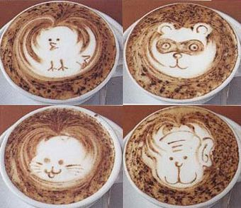 Рисунки на кофейной гуще. Фото: secretchina.com