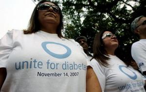 Индийские женщины участвуют в марше в Международный день диабета. 14 ноября 2007 года в Нью-Дели. Фото: TAUSEEF MUSTAFA/AFP/Getty Images