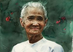 Акварель Гуань Вэйсина «Ожидание». Фото: Ambleside Gallery