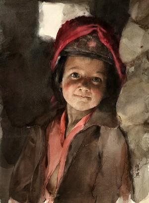 Акварель Гуань Вэйсина «Первый взгляд на мир». Фото: Ambleside Gallery