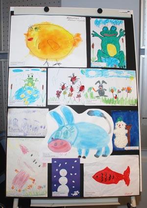 Рисунки ВИЧ-инфицированных детей ФГУ РКИБ. Фото: Юлия Цигун/Великая Эпоха
