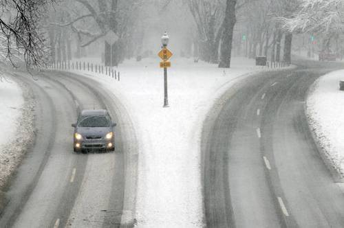 В Бостоне выпал снег. Фото: Darren McCollester/Getty Images