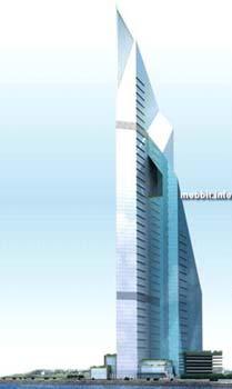Dubai Towers Doha – несмотря на вводящее в заблуждение название, этот 94-этажный небоскреб находится не в Дубае, а в Катаре. Его строительство началось в этом году и будет закончено к 2010-му. Фото с сайта Mobbit.info