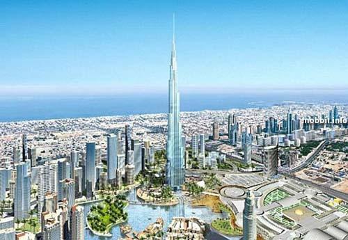 Burj Dubai – уже сейчас, в недостроенном состоянии, является самым высоким зданием в мире. Фото с сайта Mobbit.info