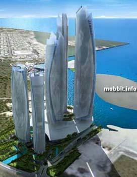 Abu Dhabi – гостиничный комплекс, двери которого откроются посетителям в 2010-м году. Фото с сайта Mobbit.info