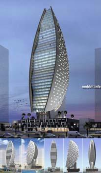 Sheth Tower Dubai – не такой уж высокий (30 этажей), но зато очень необычный по форме небоскреб. Фото с сайта Mobbit.info