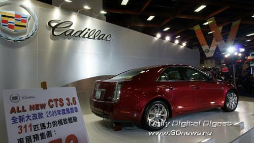 Стенд американской компании Cadillac. Седан CTS. Фото: 3dnews.ru