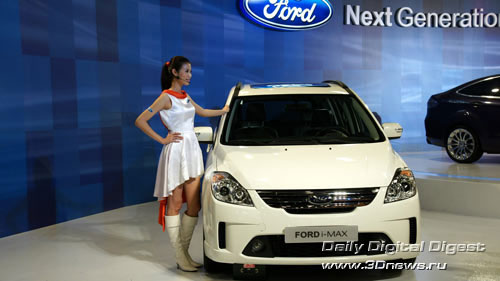 Стенд компании Ford. Новый минивен i-MAX. Фото: 3dnews.ru