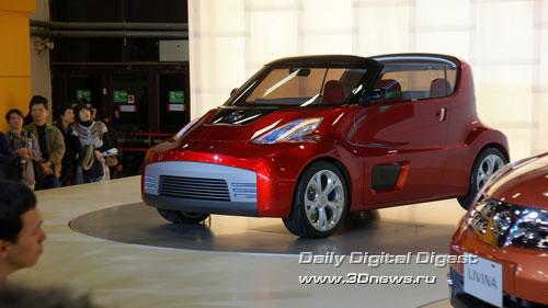 Стенд компании Nissan. Концепт-кар R.D/B.X (Round BOX). Фото: 3dnews.ru