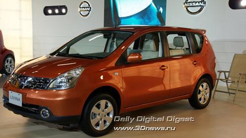 Стенд компании Nissan. Livina. Фото: 3dnews.ru
