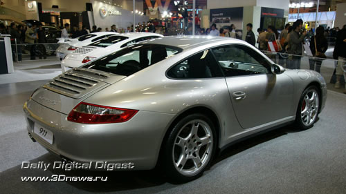 Стенд компании Porsche. Наиболее современные и
