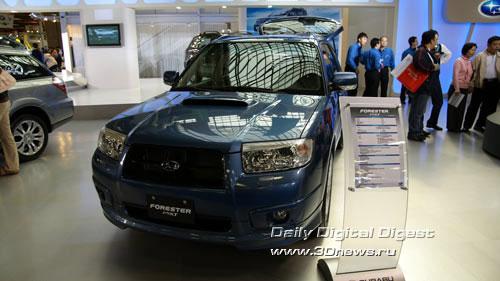 Стенд компании Subaru. Обновленный Forester. Фото: 3dnews.ru