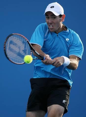 Одесник Уэйн (США) (Wayne Odesnik of the United States) во время открытого чемпионата Австралии по теннису. Фото: Clive Brunskill/Getty Images