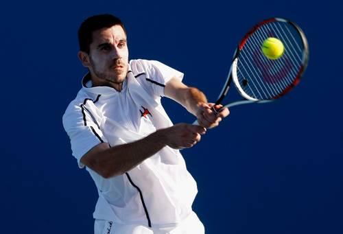 Роко Каранушич (Хорватия) (Roko Karanusic of Croatia) во время открытого чемпионата Австралии по теннису. Фото: Quinn Rooney/Getty Images