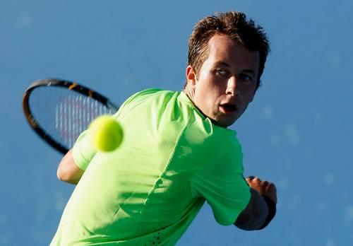Филипп Кольшрайбер (Германия) (Philipp Kohlschreiber of Germany) во время открытого чемпионата Австралии по теннису. Фото: Quinn Rooney/Getty Images