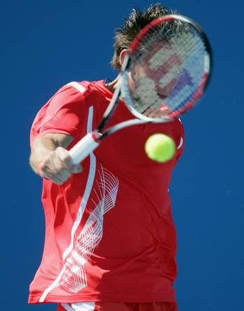 Гильермо Гарсия-Лопес (Испания) (Guillermo Garcia-Lopez of Spain) во время открытого чемпионата Австралии по теннису. Фото: Robert Prezioso/Getty Images