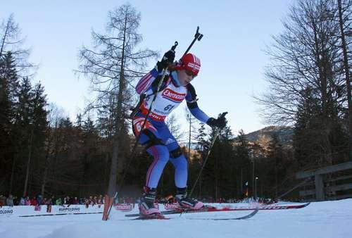 В Рупольдинге (Германия) в рамках пятого этапа Кубка мира по биатлону прошла женская спринтерская гонка на 7,5 км. Фото: CHRISTIAN MANZONI/AFP/Getty Images