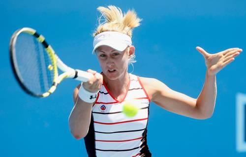 Джессика Мур (Австралия) ( Jessica Moore of Australia) во время открытого чемпионата Австралии по теннису. Фото: Quinn Rooney/Getty Images