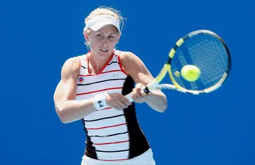 Джессика Мур (Австралия) (Jessica Moore of Australia) во время открытого чемпионата Австралии по теннису. Фото: Quinn Rooney/Getty Images