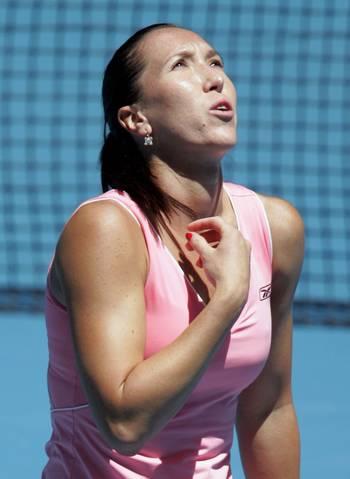 Елена Янкович (Сербия) (Jelena Jankovic of Serbia) во время открытого чемпионата Австралии по теннису. Фото: Sandra Mu/Getty Images