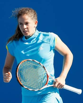 Патти Шнидер (Швейцария) (Patty Schnyder of Switzerland) во время открытого  чемпионата Австралии по теннису. Фото: Quinn Rooney/Getty Images
