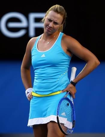 Алисия Молик (Австралия) (Alicia Molik of Australia) во время открытого  чемпионата Австралии по теннису. Фото: Mark Dadswell/Getty Images