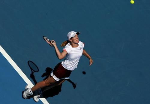 Жюстин Анэн (Бельгия) (Justine Henin of Belgium)во время открытого  чемпионата Австралии по теннису. Фото: Clive Brunskill/Getty Images