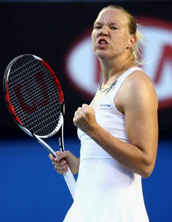 Канепи Кайя (Эстония) (Kaia Kanepi of Estonia) во время открытого  чемпионата Австралии по теннису. Фото: Mark Dadswell/Getty Images