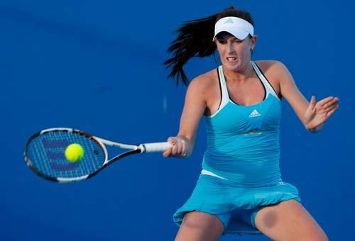 Мэдисон Бренжл (США) (Madison Brengle of the United States of America) во время открытого  чемпионата Австралии по теннису. Фото: Lucas Dawson/Getty Images