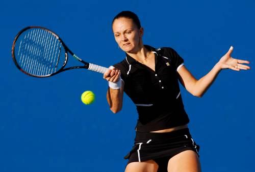 Перебийнис Татьяна (Украина) (Tatiana Perebiynis of the Ukraine) во время открытого  чемпионата Австралии по теннису. Фото: Lucas Dawson/Getty Images)