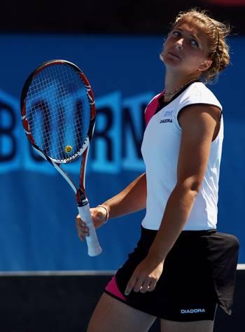 Сара Эррани (Италия) (Sara Errani of Italy) во время открытого  чемпионата Австралии по теннису. Фото: Mark Dadswell/Getty Images