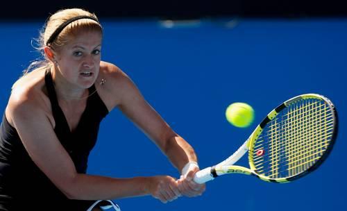 Татьяна Пучек (Белоруссия)  (Tatiana Poutchek of Belarus) во время открытого  чемпионата Австралии по теннису. Фото: Cameron Spencer/Getty Images