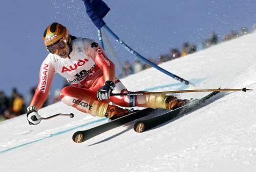 На этапах Кубка мира в Офтершванге (Германия), где соревновались горнолыжницы в гигантском слаломе. Фото: Agence Zoom/Getty Images
