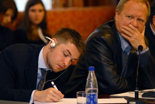 Участники конференции «Общественно правовое вещание: свобода слова и программное разнообразие». Фото: Влaдимир Бородин/Великая Эпоха