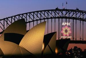 Фанфары и высокая безопасность во время проведения АТЭС в Сиднее. Однако, по мнению экспертов, форум устарел и нуждается в расширении вопросов на повестке дня. Фото: APEC 2007 Taskforce/Getty Images
