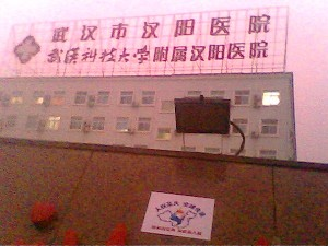 Эмблема Факела за права человека в г.Ухань провинции Хубэй. Фото: The Epoch Times