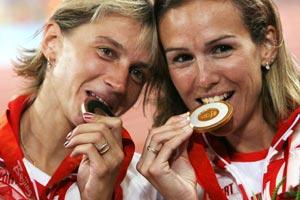 Гульнара Самитова-Галкина и Екатерина Волкова. Фото: Streeter Lecka/Getty Images